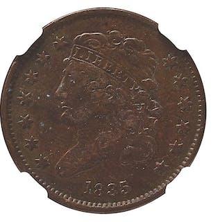 U.S. 1835 1/2C COIN