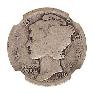 U.S. 1916-D MERCURY 10C COIN