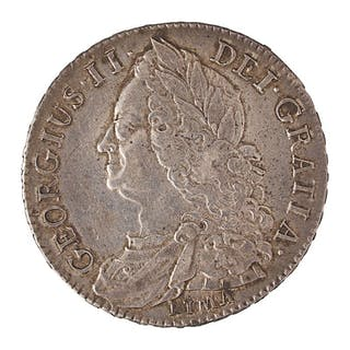 GREAT BRITAIN 1745 1/2 CROWN SILVER COIN