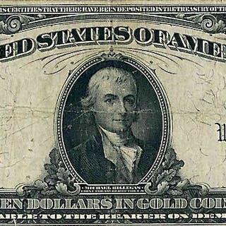 U.S. 1907 $10 GOLD CERTIFICATE