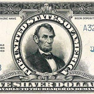 U.S. 1923 $5 PORTHOLE SILVER CERTIFICATE