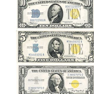 U.S. NORTH AFRICA YELLOW SEAL SILVER CERTIFICATES