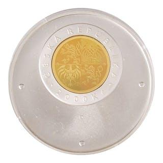 CZECH REPUBLIC 2000 KORUN SILVER/GOLD ND PROOF COIN