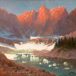 John Fery (1859–1934): Iceberg Lake, Glacier Park