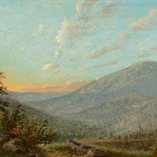 Albert Bierstadt (1830–1902): Sunset in the Mountains