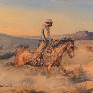Edward Borein (1872–1945): Riding Herd