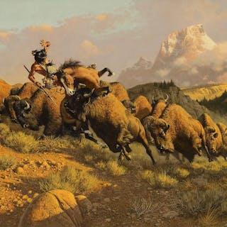 Frank Mccarthy (1924–2002): Buffalo Hunt (1972)