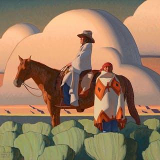 Logan Maxwell Hagege (b. 1980): Sunlight and Sage (2015)