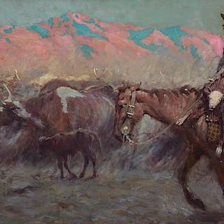Harvey Dunn (1884–1952): Mexican Calf