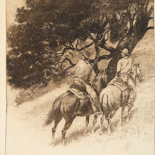Edward Borein (1872–1945): Group of seven etchings