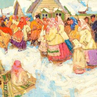 Leon Gaspard (1882–1964): Market in Russia (1911)