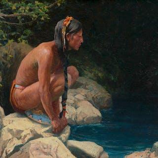 Eanger Irving Couse (1866–1936): Spirit of the Pool (1913)