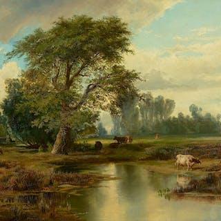 Thomas Moran (1837–1926): View of Burlington, New Jersey (1856)