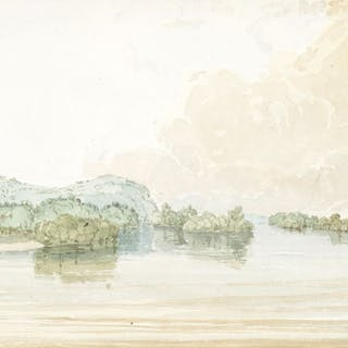 Seth Eastman (1808–1875): Near the Mouth of the Fever River; View