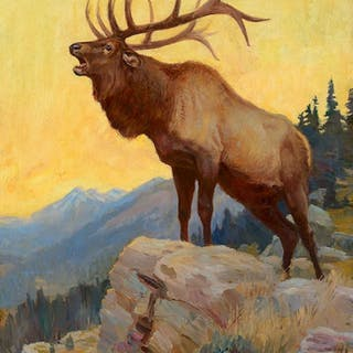 Philip R. Goodwin (1881–1935): Bugling Elk