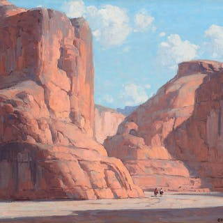 Edgar Payne (1883–1947): Riders in Canyon de Chelly