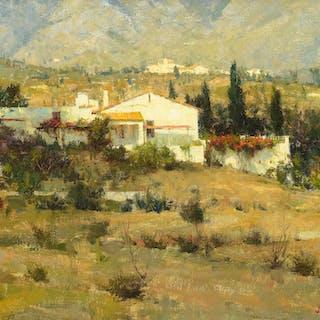 Richard Schmid (b. 1934): Benalmadena Villa (1977)