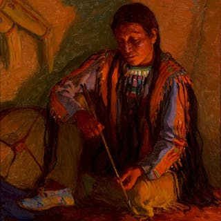 Joseph Henry Sharp (1859–1953): The Arrow Maker – Hunting Son