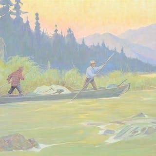 Magnus Colcord Heurlin (1895–1986): Poling Up the Yukon