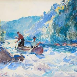 Frank Weston Benson (1862–1951): Down the Rapids (circa 1923)