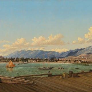 Henry Chapman Ford (1828–1894): Santa Barbara from the Wharf (1884)