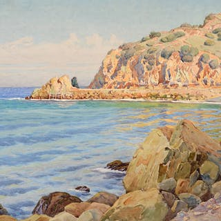 Gunnar Widforss (1879–1934): The Ocean, Catalina Island (1921)