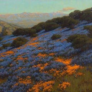 John Marshall Gamble (1863–1957): Poppies and Lupines (1912)