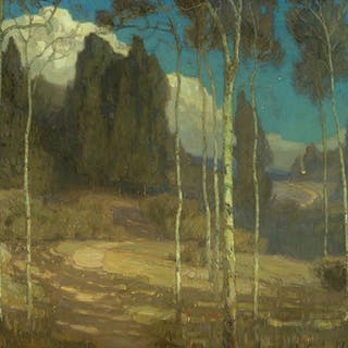 William Wendt (1865–1946): The Silence of Night (Laguna Canyon) (1910)