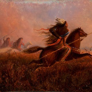 Charles Carl Wimar (1828–1862): Indians on the Prairie (1860)