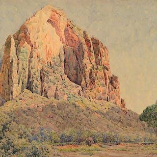 Gunnar Widforss (1879–1934): The Great White Throne [or] Zion (1923)