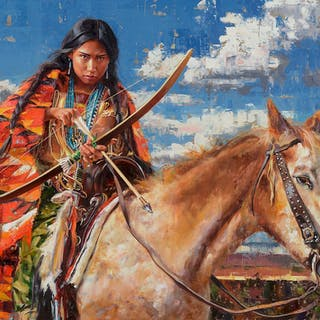Jeremy Winborg (b. 1979): She Rides a Pale Horse (2019)