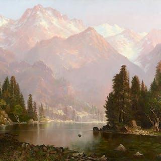 Edwin Deakin (1838–1923): Indian Encampment in the Sierra (circa 1873)