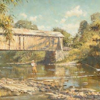 Robert Abbett (1926–2015): The Bridge Pool (1980)