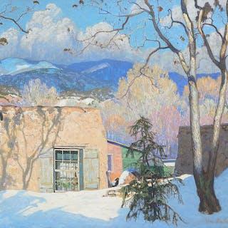Theodore Van Soelen (1890–1964): Adobe, Snow and Sunshine (1926)
