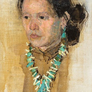 Leon Gaspard (1882–1964): Indian Woman with Turquoise