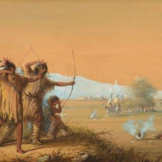 Alfred Jacob Miller (1810–1874): Snake Indians – Testing Bows