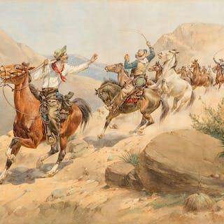 Herman W. Hansen (1854–1924): Danger Ahead (Horse Thieves)