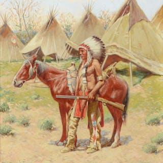 John Hauser (1859–1913): An Indian Encampment (1907)