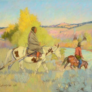 E. William Gollings (1878–1932): Camp on the Tongue River (1912)