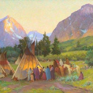 Joseph Henry Sharp (1859–1953): Crow Encampment, Montana