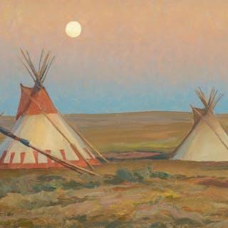 Maynard Dixon (1875–1946): Evening on the Blackfeet Reservation (1917)