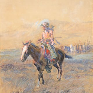 Charles M. Russell (1864–1926): Cavalry Mounts for the Braves (circa 1907-1915)