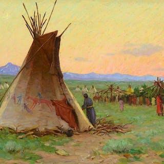 Joseph Henry Sharp (1859–1953): Blackfeet Sun Dance (1903)