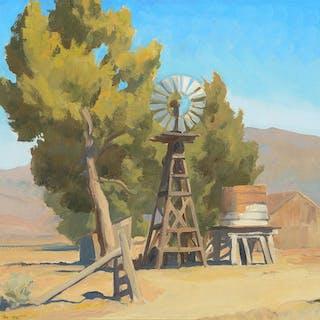 Maynard Dixon (1875–1946): Ranch Windmill, Carson, Nevada (1935)