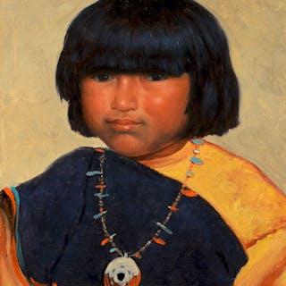 William R. Leigh (1866–1955): Zuni Child