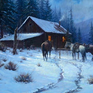 Martin Grelle (b. 1954): Good Steeds on a Cold Night (circa 1994)