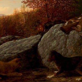 Thomas Hewes Hinckley (1813–1896): Rabbit Hunting (1868)