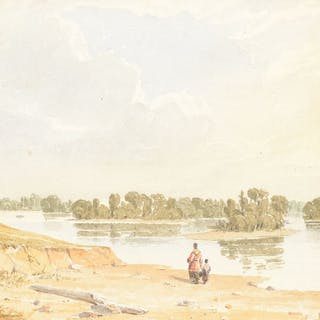 Seth Eastman (1808–1875): View on the Mississippi River, Twenty Miles