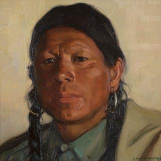 E. Martin Hennings (1886–1956): Big John, Taos Pueblo (circa 1925)