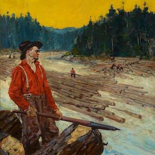 Frank b. Hoffman (1888–1958): The Log Drive